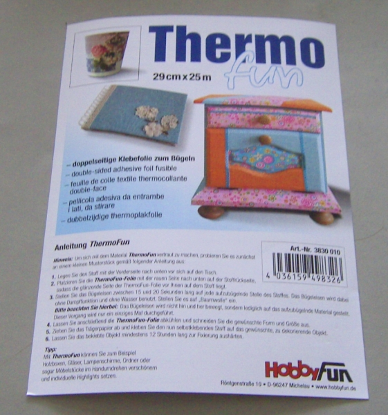 Thermo Fun Klebefolie