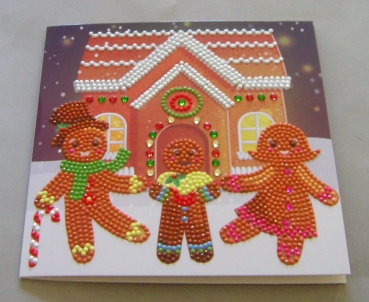 Beispiel Karte Craftbuddy Gingerbread Family