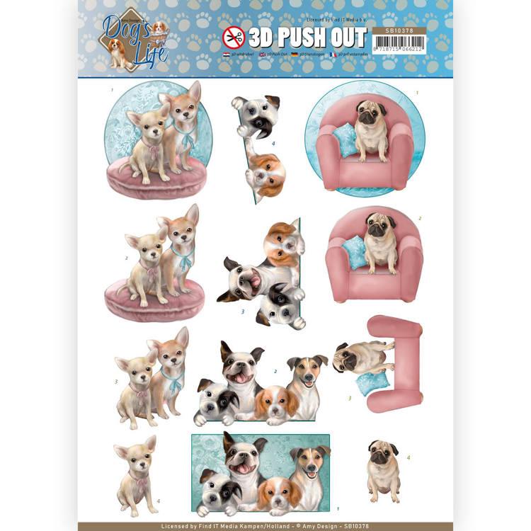 3d-stanzbogen-Amy Design-animal medley-Fluffy animales