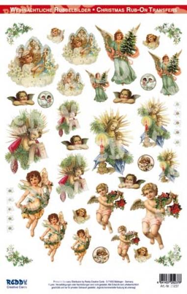 Nostalgische Weihnachtsmotive.Rubbeltransfer Nostalgische Weihnachtsmotive A4 30 Motive